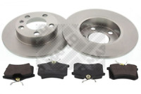 Bremsensatz, Scheibenbremse für Bremsanlage Hinterachse MAPCO 47858