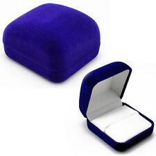 NEW Gift Box Velvet Engagement Jewelry Ring Box Earring Pendant Display Holder
