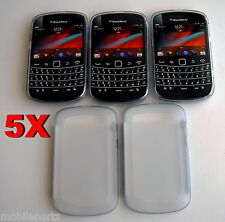 5 x Genuine BlackBerry White Soft Shell Case Cover for Bold 9900 ACC-38873-202
