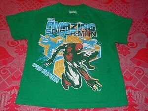 Marvel Comics The Amazing Spiderman Web Slinger T-Shirt Child Youth Large