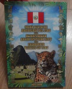 Album + Peru Set of 10 coins 1 sol Fauna of Peru Endangered wildlife of Peru UNC