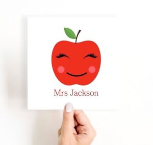 Personalised Teacher Card, Thank you Teacher Card, Female Teacher Gift
