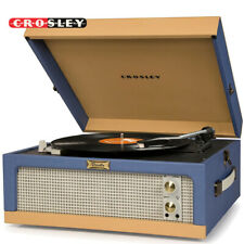 Crosley CR6234A-BT Dansette Junior 2 Speed Portable Turntable Record Player Blue