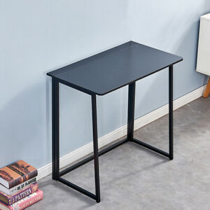 Folding Study Desk For Small Space Home Office Desk Laptop Writing Table Black
