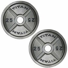 Titan Fitness Cast Iron Olympic Weight Plates 25 LB Pair