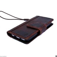 genuine vintage leather case for iphone SE 5s 5c cover book wallet credit cards