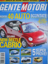 Gente Motori n°9 2002 - BMW M3 SMG Audi A2 - New Beetle 1.9 TDI 100 CV   [Q199A]