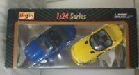 Maisto 1/24 Series Jaguar sk 8  & Ferrari Viper Car Models. Collectible.