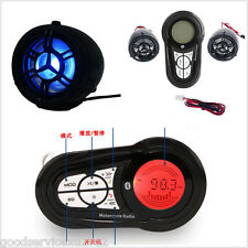 New 7-Color Waterproof Motorbike Bluetooth Audio System MP3 Radio Stereo Speaker