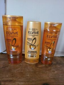 L'Oreal elvive extraordinary 2x shampoo 1x conditioner   dry to very dry