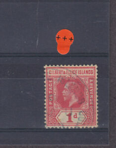 Gilbert & Ellice Islands KGV SG 13a shade Cat £15.00 Used