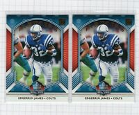 (2 LOT) 2020 Edgerrin James Panini Donruss Inducted Hall of Fame Football Card