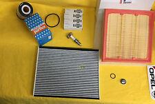 Nuevo + org Opel inspección kit Corsa D 1,6 Turbo OPC filtro bujías Service Set