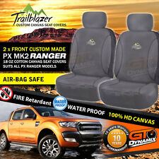 CUSTOM Ford PX MK2 RANGER FRONT COTTON CANVAS HD SEAT COVERS XL XLT 6/2015-18