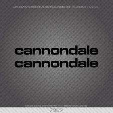 07327 Cannondale Bicycle Down Tube Stickers - Decals - Transfers - Black