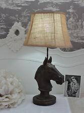 Lampe de table cheval style colonial tête