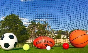Cricket / Sports Barrier Nets are 2.5mm PE 48mm x 48m square mesh - 10m x 3m