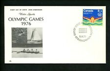 Postal History Canada FDC #B4-B6 NR Covers SET OF 3 Olympic Games rowing 1975