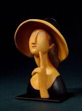 """AMEDEO MODIGLIANI Skulptur MO03 """"Jeanne Hébuterne"""" - prachtvolle Museums Figur"""