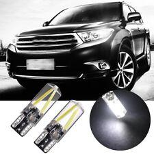 2X Lampade Auto a LED T10 2W Cob Luce di posizione, luce targa