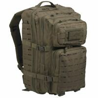 Mil-Tec Large Laser MOLLE Military Army Assault Rucksack Pack Daysack 36L Green