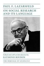 On Social Research and Its Language [Heritage of Sociology Series]