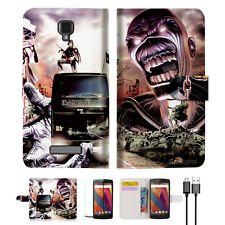 Iron Maiden Wallet TPU Case Cover For Telstra Signature Enhanced--A014