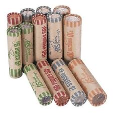 Preformed Coin Wrappers Paper Rolls Counter Sorting Tubes Holders 216 Count New