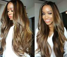 Women Long Black Mix Black Ombre Wave Hair Heat Resistant Hair Synthetic Wigs