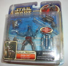 Star Wars Saga AOTC Deluxe Jango Fett MOC E II 2 clones  action figure 1112