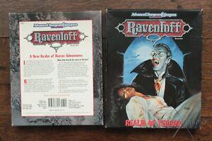 Ravenloft Realm of Terror Boxed Set AD&D 2nd Edition TSR 1053 1990