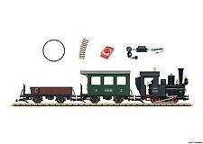 G Start-Set Oldtimerzug Tenderlok mit Personenwagen + Güterwagen LGB 70502 Neu!!