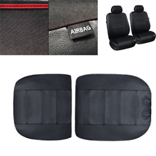 Car Seat Cover 2 Front Seats PU Leather Seat Cushion Mat Protector Universal