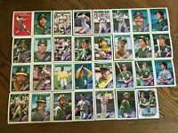 1988 OAKLAND ATHLETICS Topps COMPLETE Baseball Team Set 31 Cards MCGUIRE CANSECO