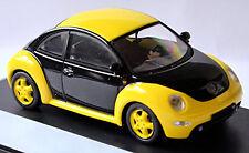 VW Volkswagen New Beetle Tipo 9C 1997-2005 Negro/Amarillo 1:43 Schuco