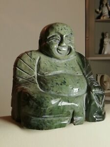 Statue, sculpture de bouddha ancien en pierre, jade, 19ème