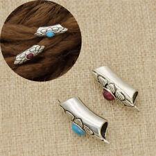 Dreadlock Tube Dread Beads Vintage Haarschmuck Zopfperle Cuff Herr Dame Rot Blau