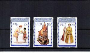 Fiji 1977 - Silver Jubilee of QE2 - Set of 3 MNH - SG 536/38