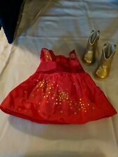 American Girl Doll Saige's Sparkle Outfit Dress & Boots