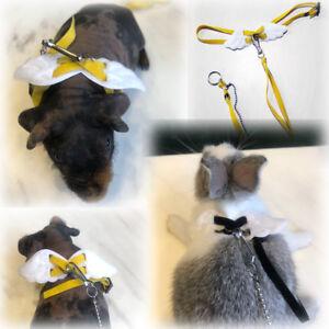 Adjustable Rabbit Ferret Guinea pig Angel Wings Harness Leash Light Soft Fashion