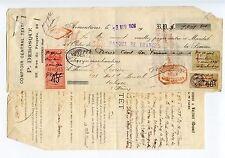 COMPTOIR CENTRAL DEBOSQUE / ARMENTIERES TIMBRE AFFICHES ET TIMBRES FISCAUX 1926