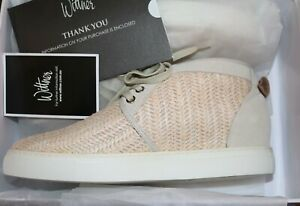 Wittner Brand Natural Weave Suede Leather Lace Up Sneakers Size 40 NEW