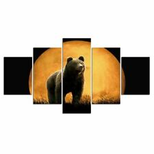 Bear and Moon Animal 5 piece HD Poster Art Wall Home Decor Canvas Print
