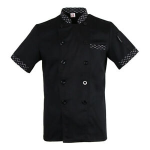 Chef Uniform Work Wear Stripe Mesh Waiter Restaurant Short Sleeve Shirt Jacket