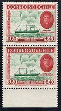 CHILE 1940 PAIR STAMP # 266 MNH SHIP EASTER ISLAND ISLA DE PASCUA