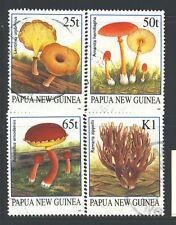 PAPUA NEW GUINEA 872-75 SG762-65 Used 1995 Fungi set of 4 Cat$7