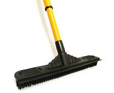 Rubber Broom Telescopic With Squeegee Pet Hair Sweeping Decking Garden Caravan