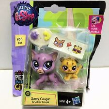Littlest Pet Shop LPS Pets in the City Sunny Cougar & Cubby Cougar Toy