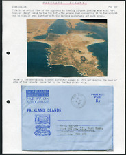FALKLAND ISLANDS (21348) five written-up pages/Air Letters