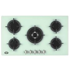 White Bautechnic AGCG9052WH | 90cm Built-in Gas-on-Glass Hob in Powder Grey